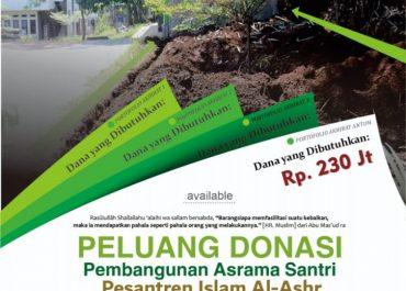 Update Donasi Pembangunan Asrama Santri Al-Ashr